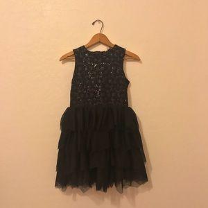 black H&M kids sparkly tulle dress